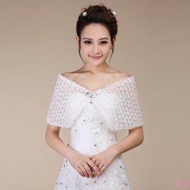 重磅 #x1f525 禮服 ??名媛風淑女修身遮肚子顯瘦遮肉氣質 2018 新娘披肩春 蕾