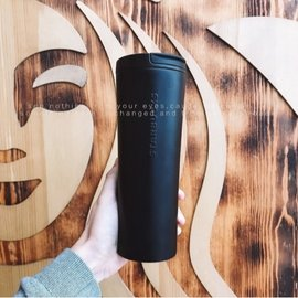 香港星巴克杯子 2018狗年 磨砂黑色 浮雕女神LOGO 不鏽鋼保溫杯 隨行杯男女同款 網