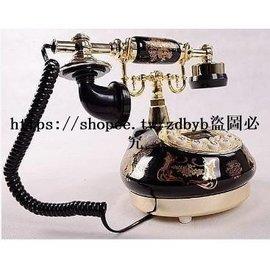 陶瓷仿古電話機 歐式田園復古電話機  家用電話機 防古電話 古董電話送朋友家用有線電話 來