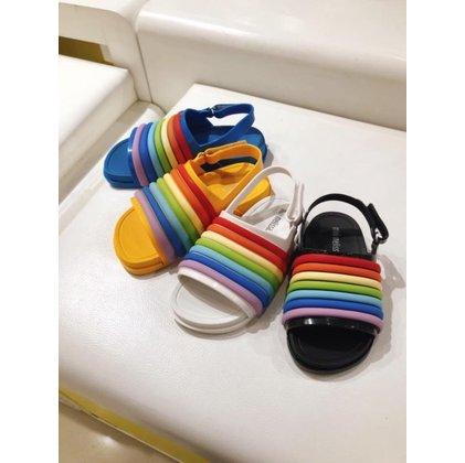 mini melissa 彩虹涼鞋