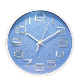 NaKay 簡約立體數字掛鐘 20cm小掛鐘 掛鐘 時鐘 小時鐘 桌掛兩用 超靜音時鐘 N