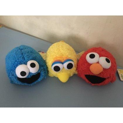 芝麻街 SESAME STREET 三隻合售 Elmo 餅乾怪 Cookie Monste