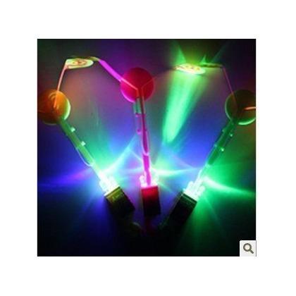 3組價 大號 好看好玩的閃光兒童玩具 LED彈弓藍燈飛箭 彈射發光飛箭 飛天仙子 彈射發光