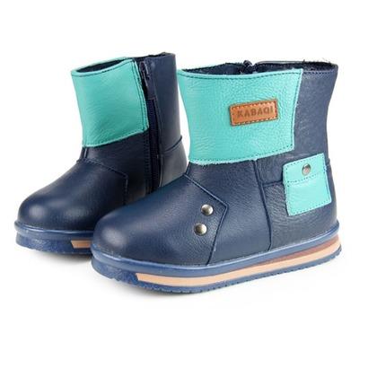 兒童 雪靴 真皮 男童 短靴 寶寶鞋 防水 內刷毛 保暖