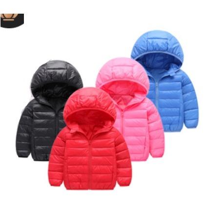 ~中小兒童輕薄素色連帽羽絨外套~ 2件  550 此為兩件起 區