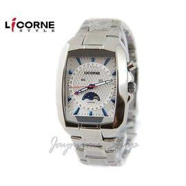 【JAYMIMI傑米】 LICORNE 力抗錶 有保固 全新公司貨 時尚個性月相酒筒腕錶LB872MWWI 藍水晶玻璃