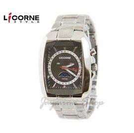 【JAYMIMI傑米】 LICORNE 力抗錶 有保固 全新公司貨 時尚個性月相酒筒腕錶LB872MWVI 藍水晶玻璃