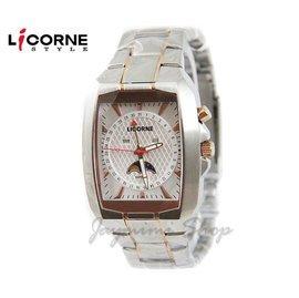 【JAYMIMI傑米】 LICORNE 力抗錶 有保固 全新公司貨 時尚個性月相酒筒腕錶LB872MTWI 藍水晶玻璃
