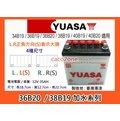 #成功網# YUASA 汽車電池 湯淺加水36B20L 36B20LS 36B20R 36B20RS 加水電瓶