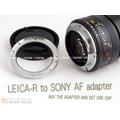 [享樂攝影] Leica Leica-R 鏡轉 Sony AF Alpha Minolta 機身 鏡後轉接環 無限遠ok 免改鏡 代改裝 A900 A700 A55 A33