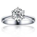 百年經典 30分 18K金白/鉑金裸鑽婚慶 求婚鑽石戒指女戒結婚禮物