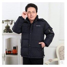 2014 中老年男士羽絨服加厚加大修身短款羽絨外套 包郵