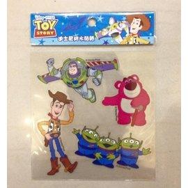 阿虎會社【A - 283】正版 迪士尼 防水 裝飾貼紙 機車貼紙 玩具總動員 三眼怪 巴斯 胡迪熊抱貼紙 安全帽 四小張