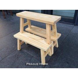 ~布拉格歐風傢俱~原木小板凳~ 製  穿鞋椅 穿鞋椅 實木椅 洗澡椅 溫泉 旅館 木頭椅