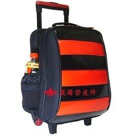 【葳爾登】UNME小學生拉捍書包護脊書包【超大容量】超輕背包兒童拉桿旅行箱登機箱3322黑紅亮面