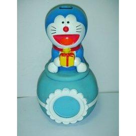 aaL皮1商旋.(企業寶寶公仔娃娃)少見高約12.5公分可360度旋轉Doraemon哆啦A夢公仔/存錢筒/撲滿!/6房樂箱149/-P