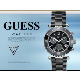 GUESS 魅力休閒腕錶 38mm GC 男女兼用 防水 BK 陶瓷錶 43001M2 現
