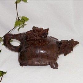 《鑽石百貨》木魚石紅檀茶壺水杯健康堿性龍龜壺