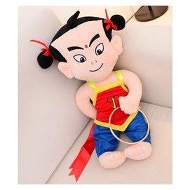 神話兒童動畫哪吒鬧海哪吒公仔三太子玩具毛絨玩具布娃娃布偶玩偶