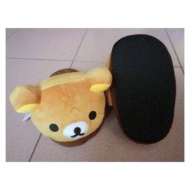 【nike100m】Rilakkuma 拉拉熊 懶懶熊 保暖拖鞋 絨毛拖鞋 室內拖鞋 生日 聖誕 禮物 約26cm