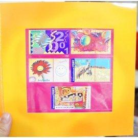澳洲 2001 ~Color My Day ~套票護卡 郵票