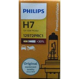 興榮汽配~飛利浦PHILIPS Premium亮度加強 30% 型抗紫外線石英玻璃大燈燈泡 H7
