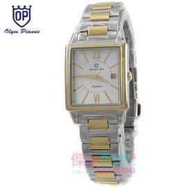 【JAYMIMI傑米】奧林比亞 OP 愛其華 全新原廠公司貨 經典時尚羅馬方型腕錶中金款 對錶 女款