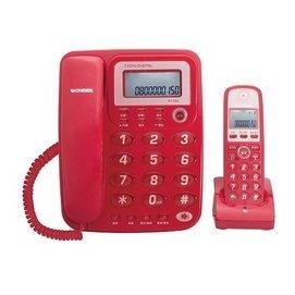 WONDER 旺德 2.4GHz  高頻 數位子母機來電顯示數位電話 WT-D02 字體大