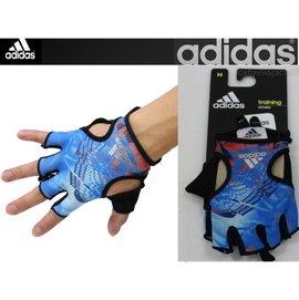 (布丁體育)愛迪達 adidas 健力手套 海洋藍 重量訓練手套 重訓手套 舉重手套 另賣 nike 啞鈴 健腹輪 滾輪