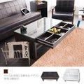 生活大發現-F-多格收納強化玻璃雙向茶几桌/和室桌/餐桌/桌子/抽屜免組裝/TA002/