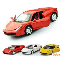 兒童合金汽車模型 仿真寶馬法拉利蘭博基尼跑車 金屬男孩玩具車