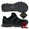 【瑞士 MAMMUT 長毛象】男新款 MTR 71 Trail Gore Tex 超輕量透氣多功能運動休閒鞋/登山健行/Gripex鞋底/03040-00024 黑/藍