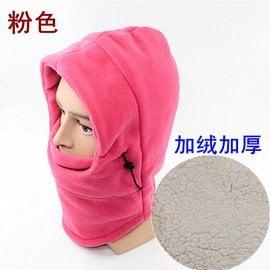 冬天帽子戶外男女加厚騎車防風防寒帽騎行頭套面罩蒙面保暖加絨帽