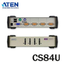 【MR3C】含稅附發票 現貨! ATEN宏正 CS-84U CS84U 4埠桌上型KVM切換器(PS2+USB)