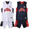籃球服套裝男夏運動服美國隊球衣比賽隊服訓練服可印字印號包郵