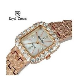 royal crown蘿亞克朗手表 女手鏈表水鑽表玫瑰金白金 3648