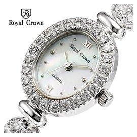 royal crown 蘿亞克朗手表手鏈表水鑽表白金時裝女表