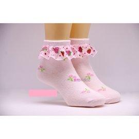兒童雙網蕾絲/草莓/ 公主襪子