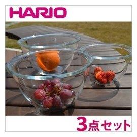 日本 HARIO  耐熱玻璃調理碗 (3入)