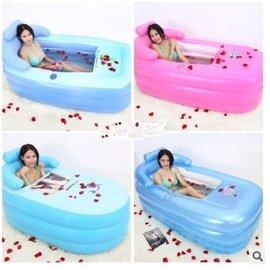 泡澡神器 簡易充氣摺疊浴缸 加厚氣墊浴缸充氣浴桶 泡澡桶 洗澡泡澡沐浴桶 保溫保暖~送修補