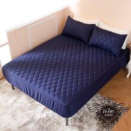 床包式-3M技術處理~防潑水保潔墊~台灣製造!深藍色~單人床包*防髒-耐污-隔尿-保護床墊(350元)