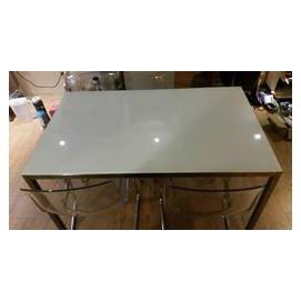 忠孝復興 IKEA 品味風格白色玻璃餐桌 工作桌 便利桌 含四張椅子