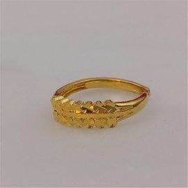 24K女士歐幣首飾越南沙金仿真假黃金戒指鍍金18K飾品開口戒子不掉