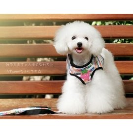 ~Ziga~里家~~可愛熊熊草莓保護型胸背牽引套裝.寵物 狗狗胸背帶.送牽繩~S