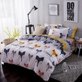可訂製》北歐狐狸床包四件組 床單被套枕套 床組 無印良品 ikea zera hola雙人床 兒童 簡約 專櫃 卡通(450元)