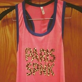 桃紅×藍色豹紋無袖 休閒 連身裙 棉質 長洋裝 長裙 連身洋裝 睡衣 家居服