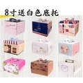 禎巧妙⭐️ 8寸蛋糕手提盒 禮盒 烘焙蛋糕盒 萬聖節南瓜蛋糕盒 8寸燙金手提生日蛋糕盒子透明蛋糕 送白色底託(33元)