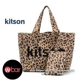 ~wbar~ Kitson豹紋托特包 收納包兩件組 手提包 手提袋 包 小物包 零錢包 手