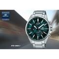 【時間道 】【CASIO。EDIFICE】世界地圖錶面三眼多功能腕錶-寶藍面鋼(ETD-300D-3)免運費