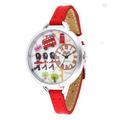 韓國時尚女士手錶 潮流復古浪漫軟陶純手工女表 學生時裝皮帶手錶 英倫士兵-974